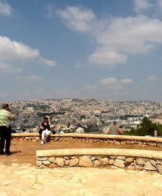 "A panoramic view from Mount Precipice (""The Leaping Mountain"") over the town of Nazareth 