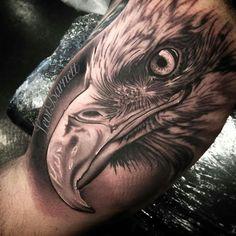Did this chicken portrait last week 🐔 Eagle Head Tattoo, Eagle Tattoos, Wolf Tattoos, Forearm Tattoos, Animal Tattoos, Body Art Tattoos, Sleeve Tattoos, Octopus Tattoo Design, Octopus Tattoos