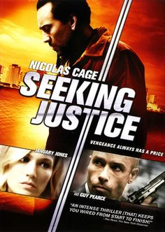Nicolas Cage pays a hefty price in revenge thriller 'Seeking Justice' when he gets involved in a vigilante operation. Comes out on Tuesday, June 2012 on DVD and Blu-ray! January Jones, June 19, Nicolas Cage, Dvd Blu Ray, Harold Perrineau, Jennifer Carpenter, Guy Pearce, Leaving Work