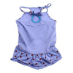 Spot Pattern Slim Braces Dresses for Dogs (XS-XL) – USD $ 4.89
