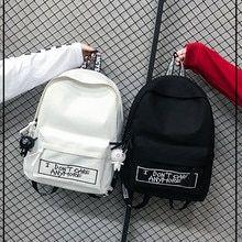 Buy 2019 New Backpack Fashion Canvas Women Backpack Doll Pendant Travel Women Shoulder Bag Harajuku Backpack Female Mochila Bagpack Cute School Bags, School Bags For Girls, Girls Bags, High School Bags, Back To School Bags, Cute Mini Backpacks, Stylish Backpacks, Leather Backpacks, Leather Bags