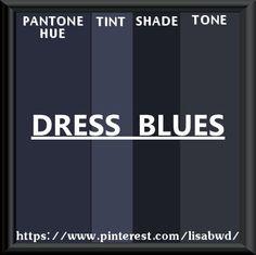 PANTONE SEASONAL COLOR SWATCH DRESS BLUES