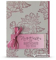 RETIRING: Happiest of Birthdays to You from Birthday Blooms Stamps | Stampin Up Demonstrator - Tami White - Stamp With Tami Crafting and Card-Making Stampin Up blog - Birthday Blooms