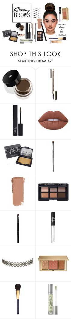 """Strong Brows always on Fleek"" by pandatheod ❤ liked on Polyvore featuring beauty, Lancôme, Clarins, NARS Cosmetics, Lime Crime, Urban Decay, H&M, Gucci, Assya London and Estée Lauder"