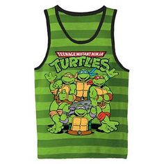 Teenage Mutant Ninja Turtles Toddler Boys' Striped Muscle Tank - Green