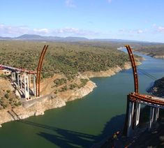 Processo construtivo da Ponte Arcos de Alconétar