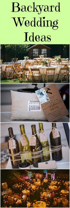 Ideas for an elegant and chic backyard wedding