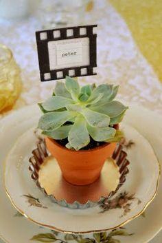 piante come segnaposto