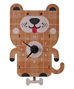 Look what I found on #zulily! Dog Pendulum Wall Clock #zulilyfinds