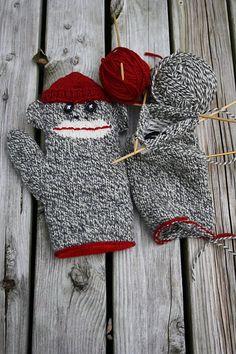 Ravelry: Lined Sock Monkey Mitten pattern by Rachel Hooper