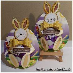 StampinUp! , Milka Ei zum Osterhasen verwandelt, kleine Schenkerli...