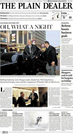 The Plain Dealer's front page for November 28, 2014