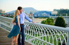 Coolidge Park Engagement Session - Chattanooga Photography