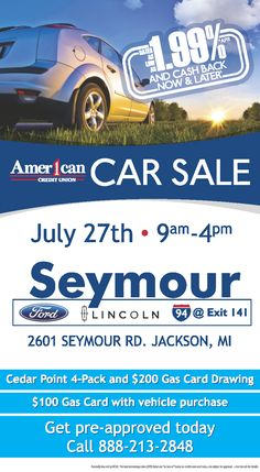 Seymour Ford Lincoln has partnered up with Amer1can Credit Union to offer you huge savings at  sc 1 st  Pinterest & Seymour Ford Lincoln Jackson Michigan Book Your Service ... markmcfarlin.com