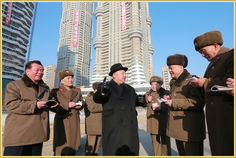 Kim Jong Un, Chairman of the Workers' Party of Korea, Chairman of the DPRK State Affairs Commission and Supreme Commander of the Korean People's Army, provided field guidance at the construction site of Ryomyong Street. Workers Party, Korean People, Military Jacket, Army, Construction, Street, Life, Gi Joe, Building