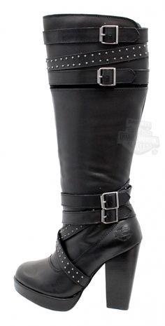 83546 - Harley-Davidson® Womens Karlia Black Leather High Cut Boot