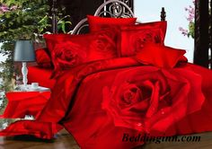 Amazing Red Rose 4 Piece Bedding Sets Buy link->http://goo.gl/8tB6ht Live a better life, start with @beddinginn http://www.beddinginn.com/product/Amazing-Red-Rose-Big-Flower-Print-4-Piece-Bedding-Sets-Duvet-Cover-Comforter-Sets-10575477.html