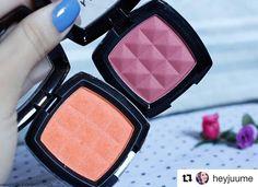 """Powder Blush da NYX pela blogger @heyjuume """"Pigmentados e as cores são lindas!"""""""