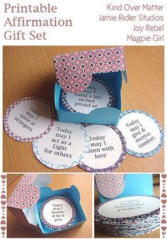Kind Over Matter Freebie Printable Affirmation Gift Set by Amanda Oaks, via Flickr