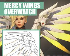 Mercy   Wings   Blueprint   Pattern   Vector   PDF File   Overwatch    Blizzard