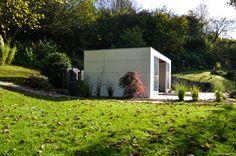 design gartenhaus @gart_lounge Outdoorküche #Gartenhaus #shed #Gerätehaus #Flachdach # HPL
