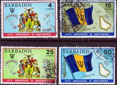 Barbados 1971 Independence Set Fine Used SG 436 9 Scott 364 7 Other British Commonwealth Stamps Here