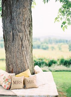 #pillow  Photography: Anne Robert Photography - annerobertphotography.com Event Planning: Simply Chic Events - asimplychicevent.com Floral Design: Holly Heider Chapple Flowers LTD - hollychappleflowers.com  Read More: http://www.stylemepretty.com/2013/07/02/virginia-wedding-from-anne-robert-photography-simply-chic-events-holly-heider-chapple-flowers/