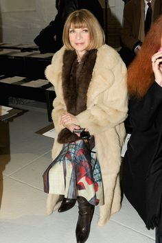 Anna Wintour - Rodarte - Front Row - Mercedes-Benz Fashion Week Fall 2014