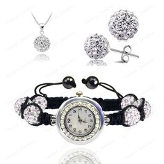 Crystal Watch Sets Pendant+Bracelet+Earrings Crystal Jewelry Watch Sets Micro Pave Disco 10mm Beads Crystal Watch Sets SHSE-019 //Price: $10.00 & FREE Shipping // Get it here ---> http://bestofnecklace.com/crystal-watch-sets-pendantbraceletearrings-crystal-jewelry-watch-sets-micro-pave-disco-10mm-beads-crystal-watch-sets-shse-019/    #jewellery