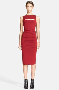 Donna Karan Collection Front Cutout Jersey Midi Dress available at #Nordstrom