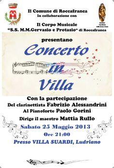 presso Villa Suardi a Ludriano di Roccafranca http://www.panesalamina.com/2013/10683-concerto-in-villa-a-roccafranca.html