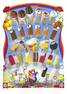 Glasskarta 1985 Right In The Childhood, My Childhood Memories, Balloon Clouds, Balloons, Ice Cream Prices, Remember The Time, Swedish Recipes, Ice Pops, When I Grow Up