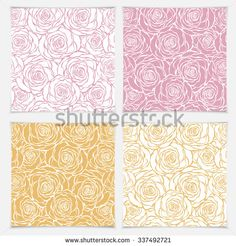Floral seamless pattern with roses. Vector roses hand drawn pattern.
