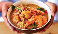Norman Musa's prawn curry laksa.