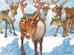 Wallpapers of Rudolph the Red-Nosed Reindeer Story book - Rudolph the Red-Nosed Reindeer illustration Wallpaper 14