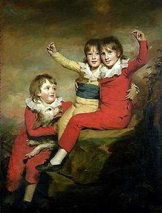 The Macdonald Children, Ranald, Robert And Donald-Henry Raeburn (1756 – 1823, Scottish)  (I just love their names)