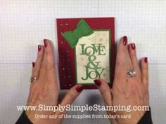 Simply Simple FLASH CARDS - Love & Joy Christmas Card by Connie Stewart