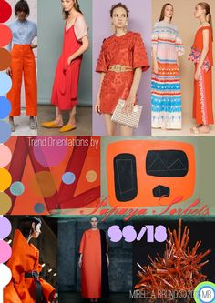 """Inspiration Information - © Mirella Bruno Print Trend Colour Designs 2016. Directions for SS/18 future personal projects. """"Papaya Sorbets"""". Created Jan. 2016 http://cargocollective.com/mirella-bruno-print-designs/Inspiration-Information"""