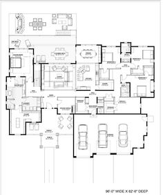 194-1007: Floor Plan Main Level This is huge, but I love it!  Two offices!  That master closet!  One eating area!  One living space! Eliminate the basement of course.