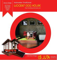 Asian Traditional Wooden Dog House Rumah Jepang III
