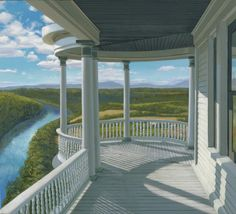 """The River"" by Edward Gordon. 10"" x 11"" Oil on Panel.   *SOLD*  www.maine-art.com. #maineart #artgallery"