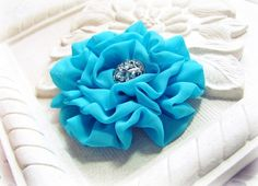 Rosette brooch and hair clip