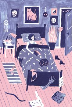 Night Terrors by Gillian Wilson #illustration