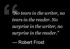 I've been dripping tears on m hands as I've typed sad bits in books. But I know there'll be a fair chance that readers will be weeping, too.