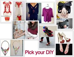 inspiration and realisation: DIY fashion blog: pick your DIY: the roundup