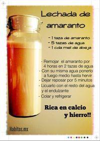 Lechada de amaranto. #hábitos #hábitosmx #salud #health