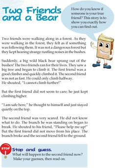 Grade 3 Reading Lesson 11 Fables And Folktales – Two Friends And A Bear