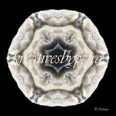 Mandala ''Eisbär''  kreativesbypetra  #mandala #mandalas #mandalaart #mandalastyle #inspiration #innereruhe #spirit #eisbär #icebear Petra, Onesies, Kids, Clothes, Mandalas, Canvas, Young Children, Outfits, Boys