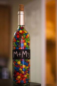 Récup' bouteilles de vin : rangements à bonbons