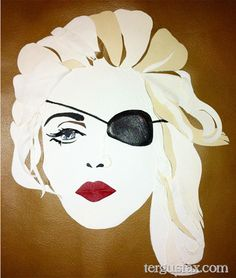 Custom leather portrait of Madonna tergusfax.com